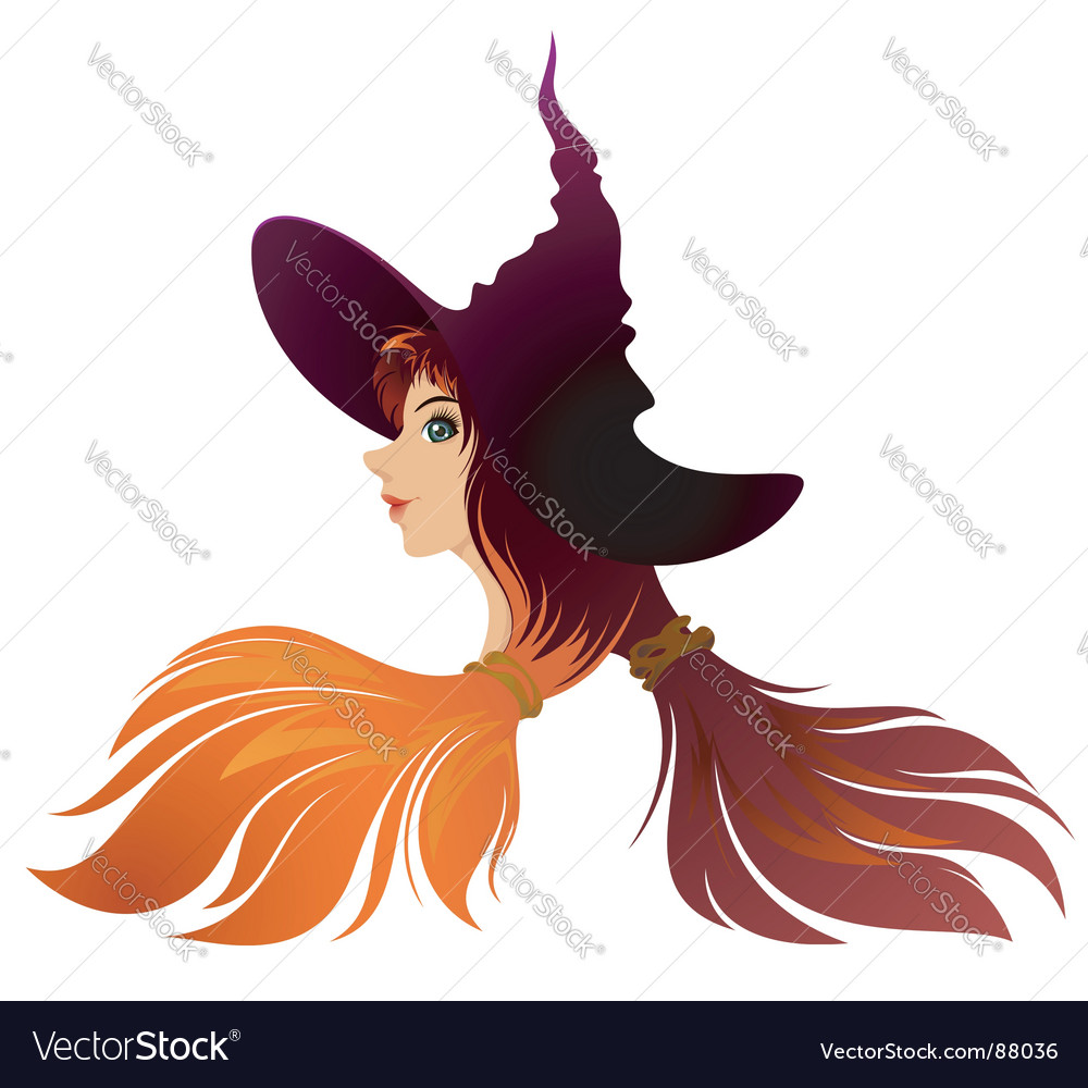 Halloween witch vector | Price: 1 Credit (USD $1)