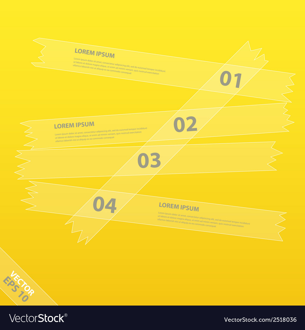 Modern infographics template with stickers vector | Price: 1 Credit (USD $1)