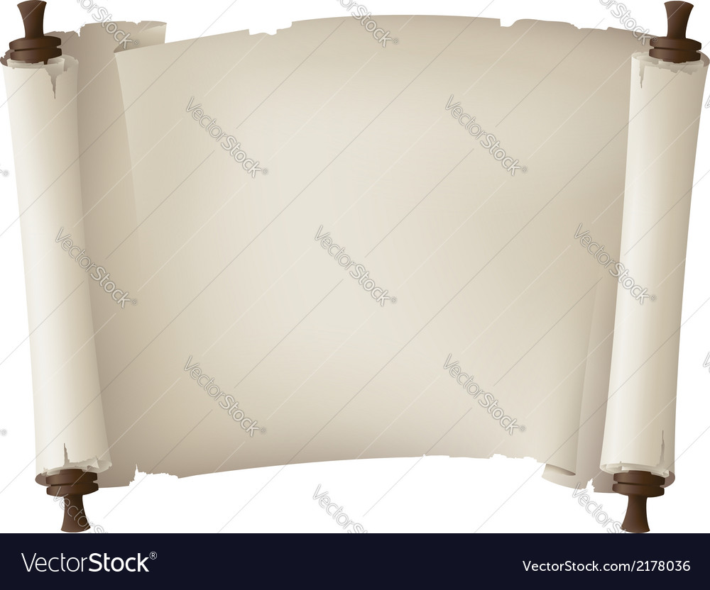 Scroll paper banner vector | Price: 1 Credit (USD $1)