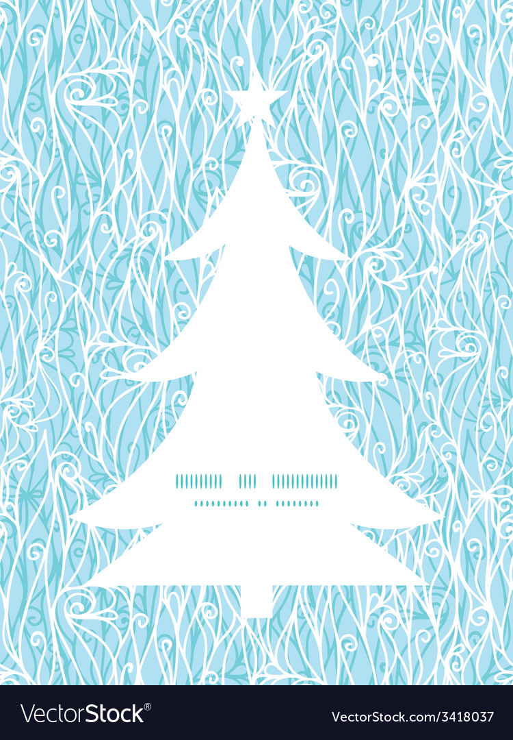 Abstract frost swirls texture christmas tree vector | Price: 1 Credit (USD $1)