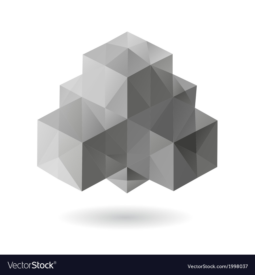 Abstract geometric shape isolated vector   Price: 1 Credit (USD $1)