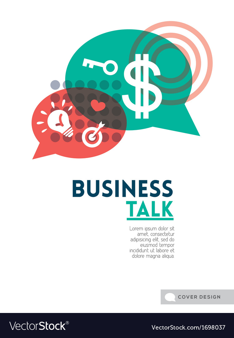 Business talk bubble speech concept vector | Price: 1 Credit (USD $1)