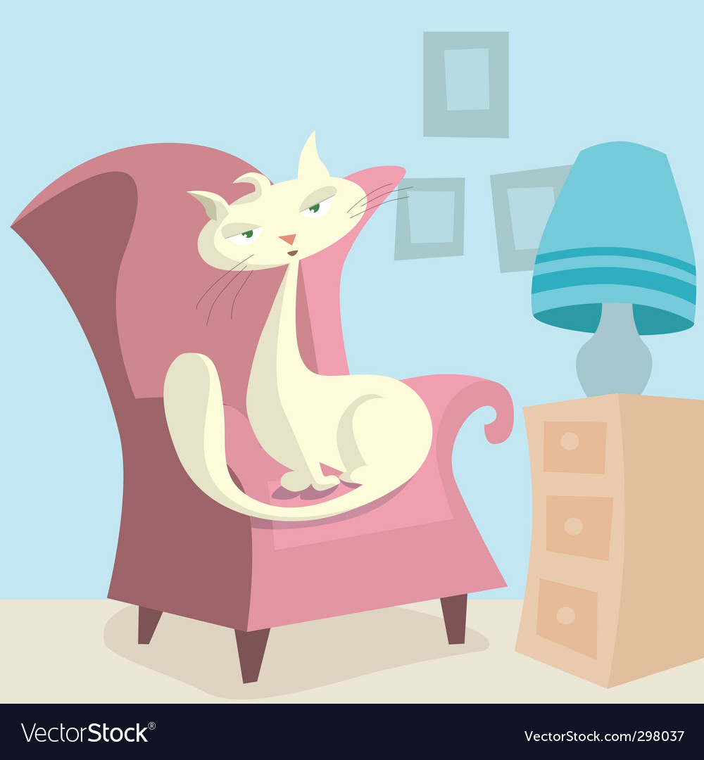 Cartoon cat vector | Price: 3 Credit (USD $3)