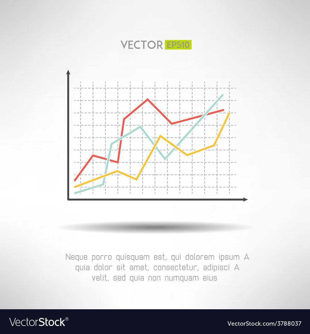 Economic finance graphics chart icon market sale vector | Price: 1 Credit (USD $1)