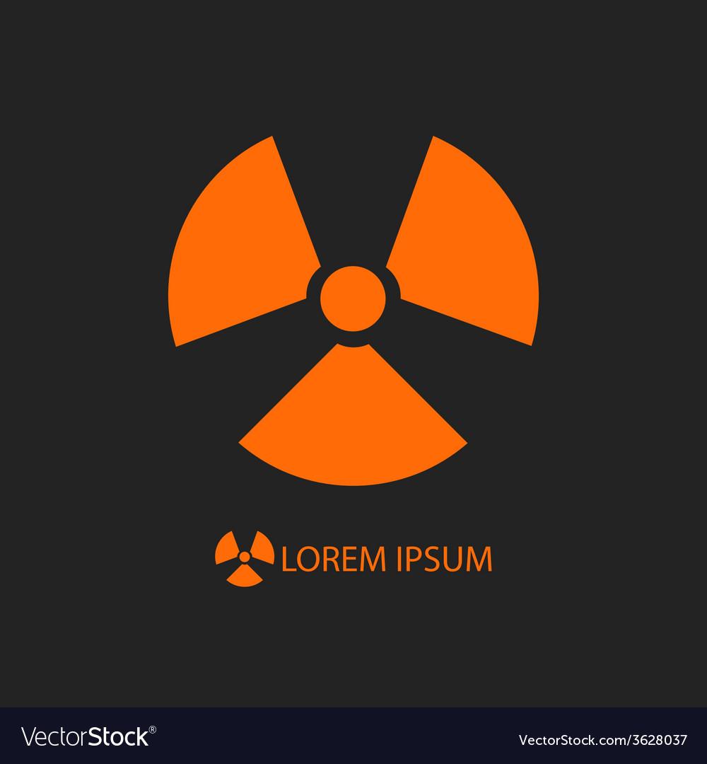 Orange radiation sign on black vector   Price: 1 Credit (USD $1)