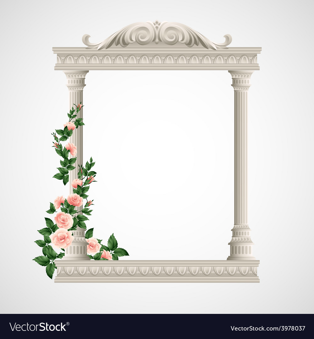 Portico an ancient temple colonnade vector | Price: 3 Credit (USD $3)