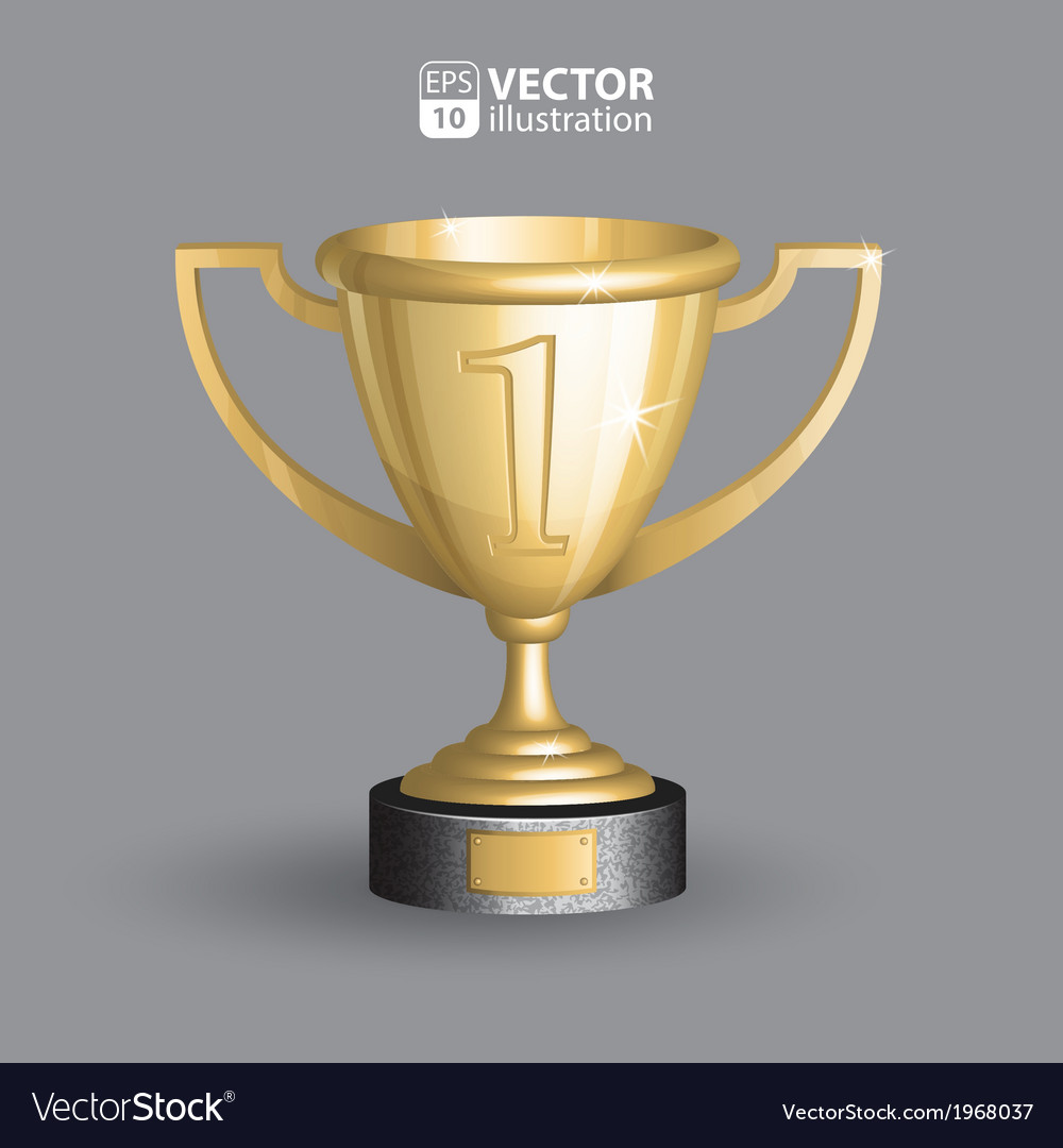 Realistic of golden championship trop vector | Price: 1 Credit (USD $1)