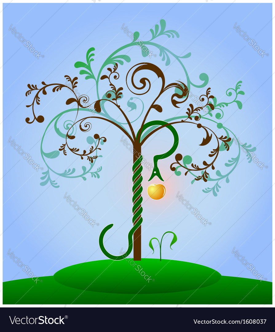 Tree of knowledge colored vector | Price: 1 Credit (USD $1)
