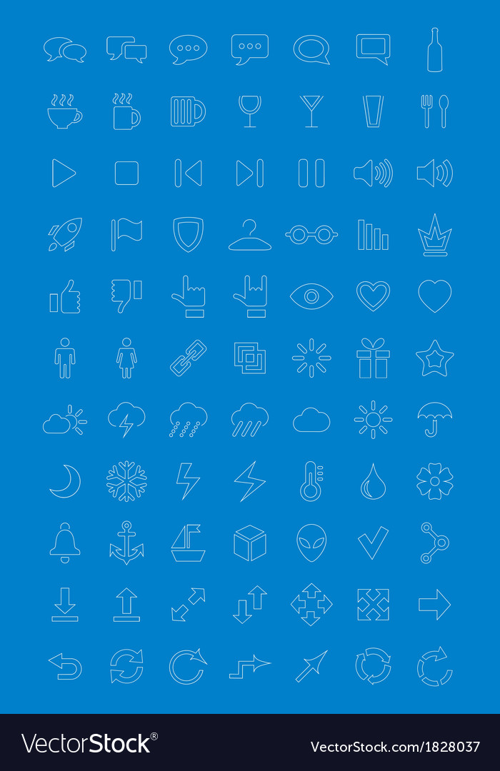 Universal icons set for web design vector | Price: 1 Credit (USD $1)