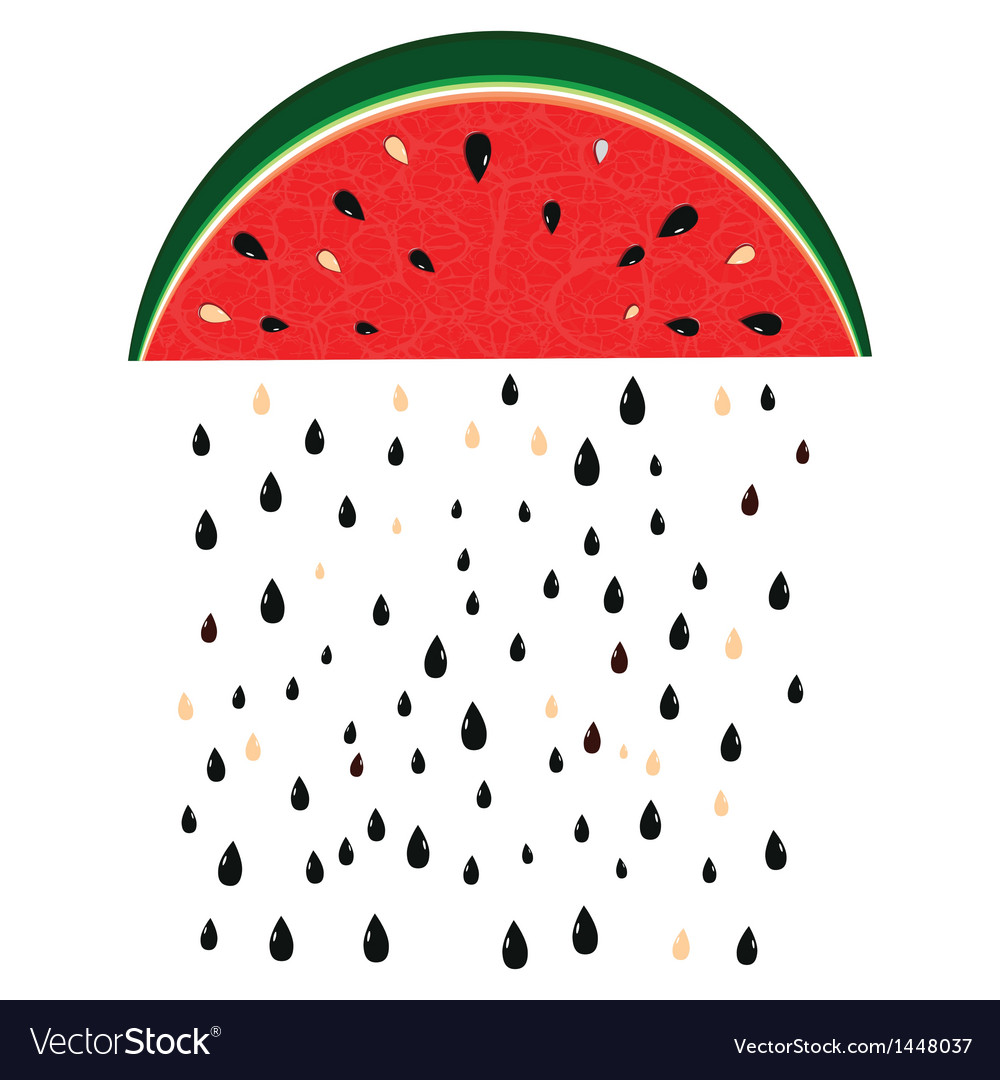 Watermelon rain fresh slices background vector | Price: 1 Credit (USD $1)