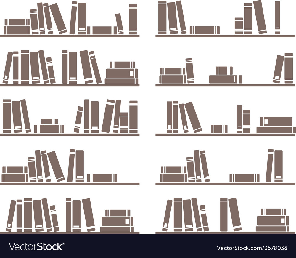 Books on the shelf vector | Price: 1 Credit (USD $1)