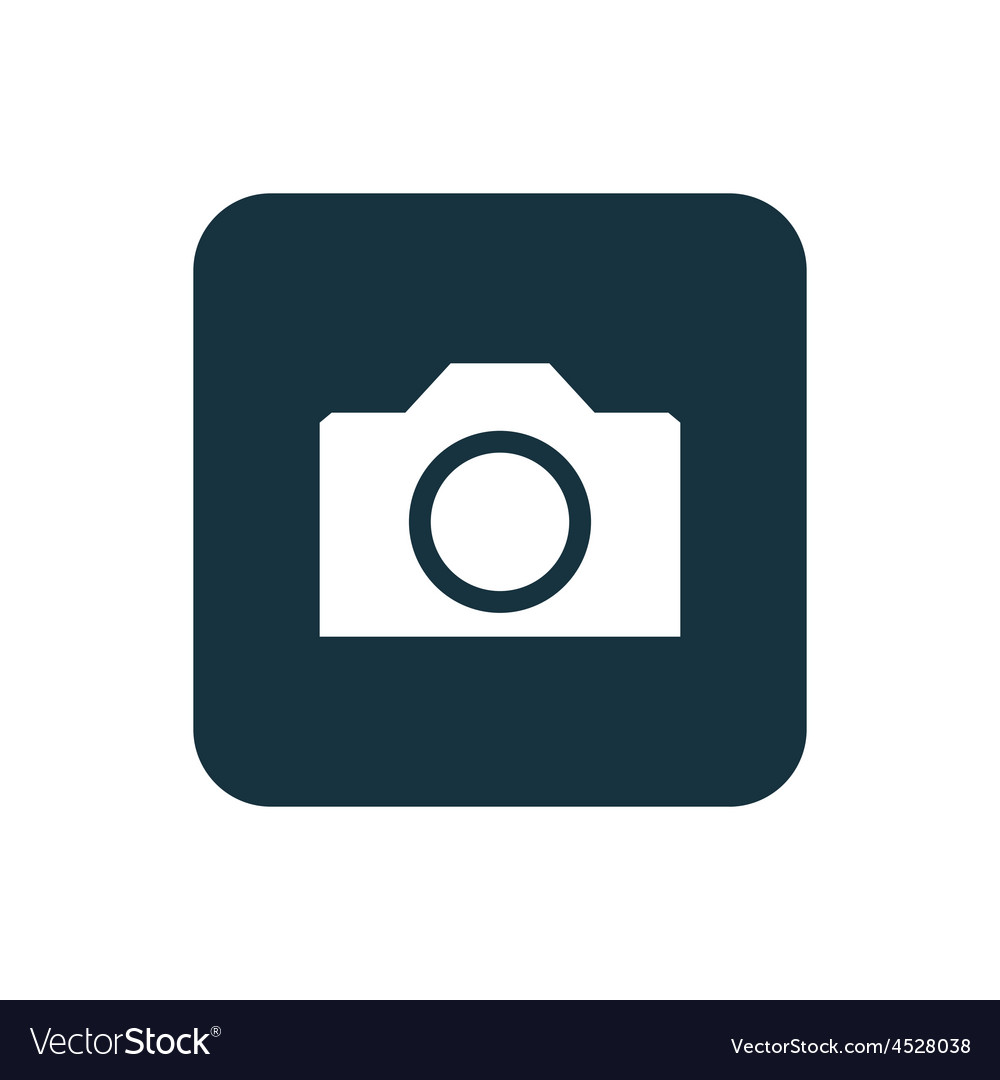 Camera icon rounded squares button vector | Price: 1 Credit (USD $1)