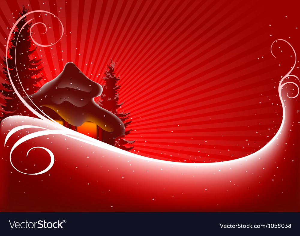 Christmas cottage vector | Price: 1 Credit (USD $1)