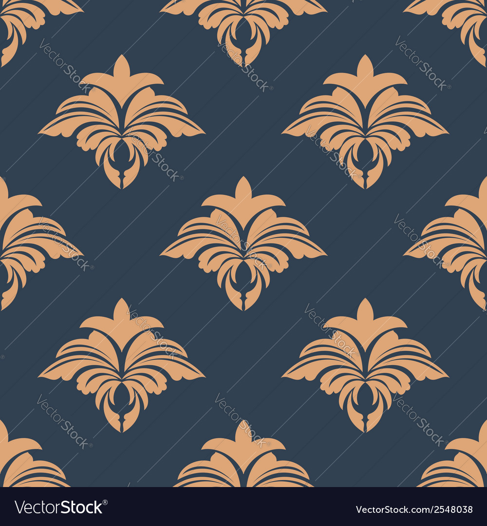 Dainty retro floral seamless pattern vector | Price: 1 Credit (USD $1)