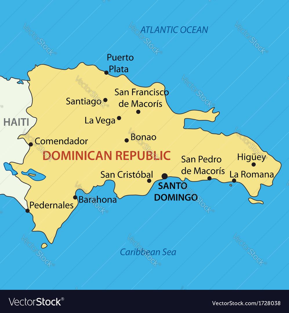 Dominican republic - map vector | Price: 1 Credit (USD $1)