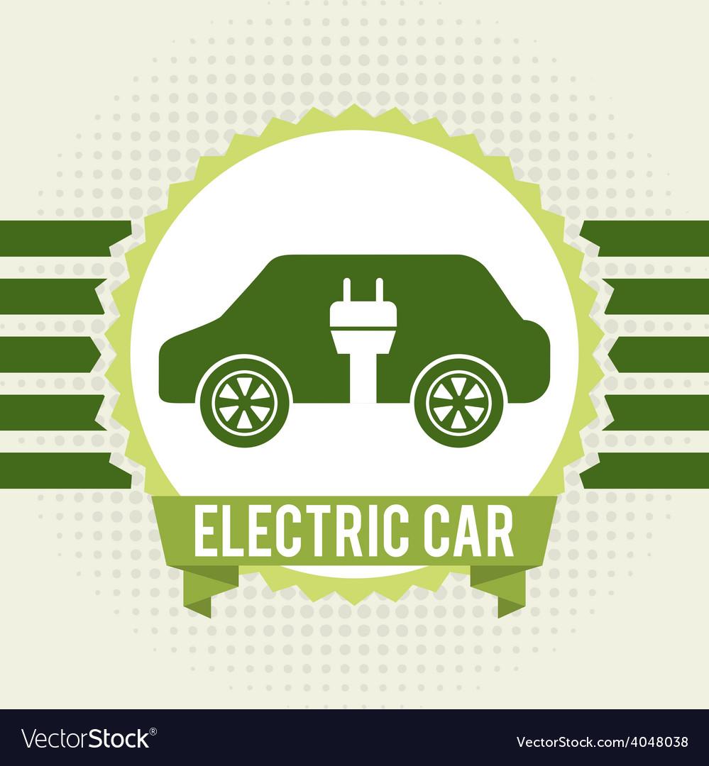 Electric car vector | Price: 1 Credit (USD $1)