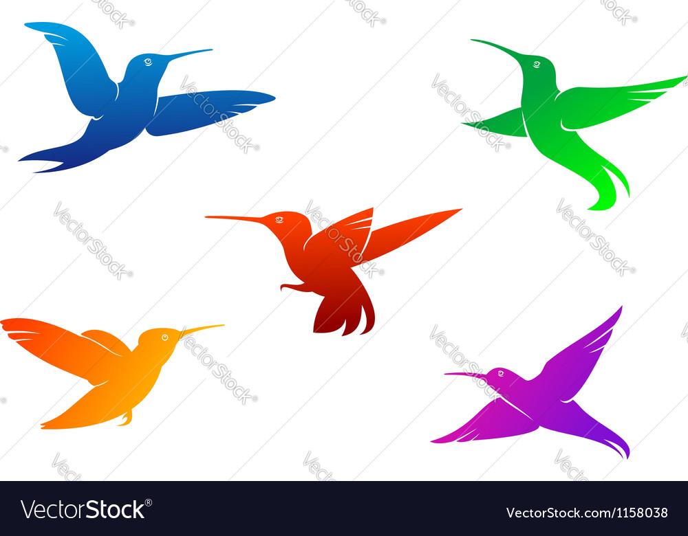 Flying hummingbirds vector | Price: 1 Credit (USD $1)