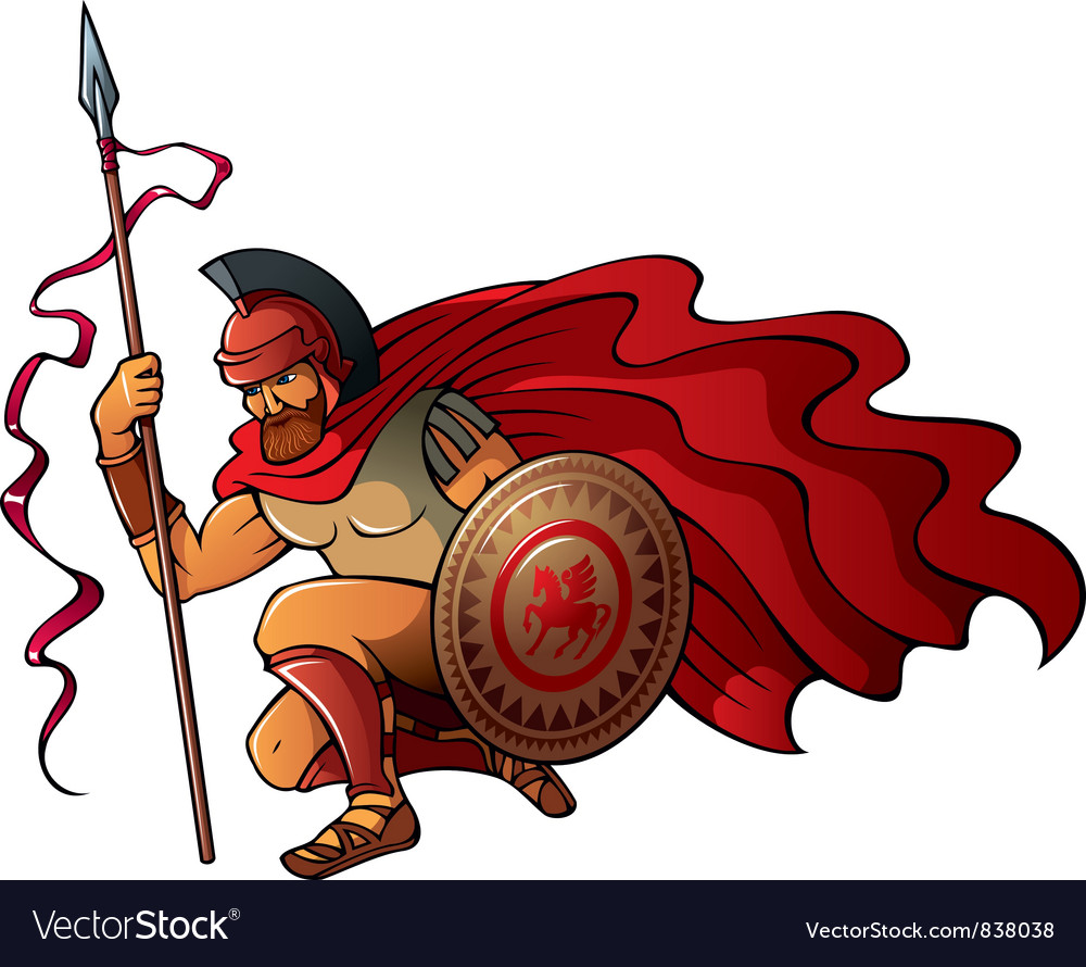 Greek warrior vector | Price: 1 Credit (USD $1)