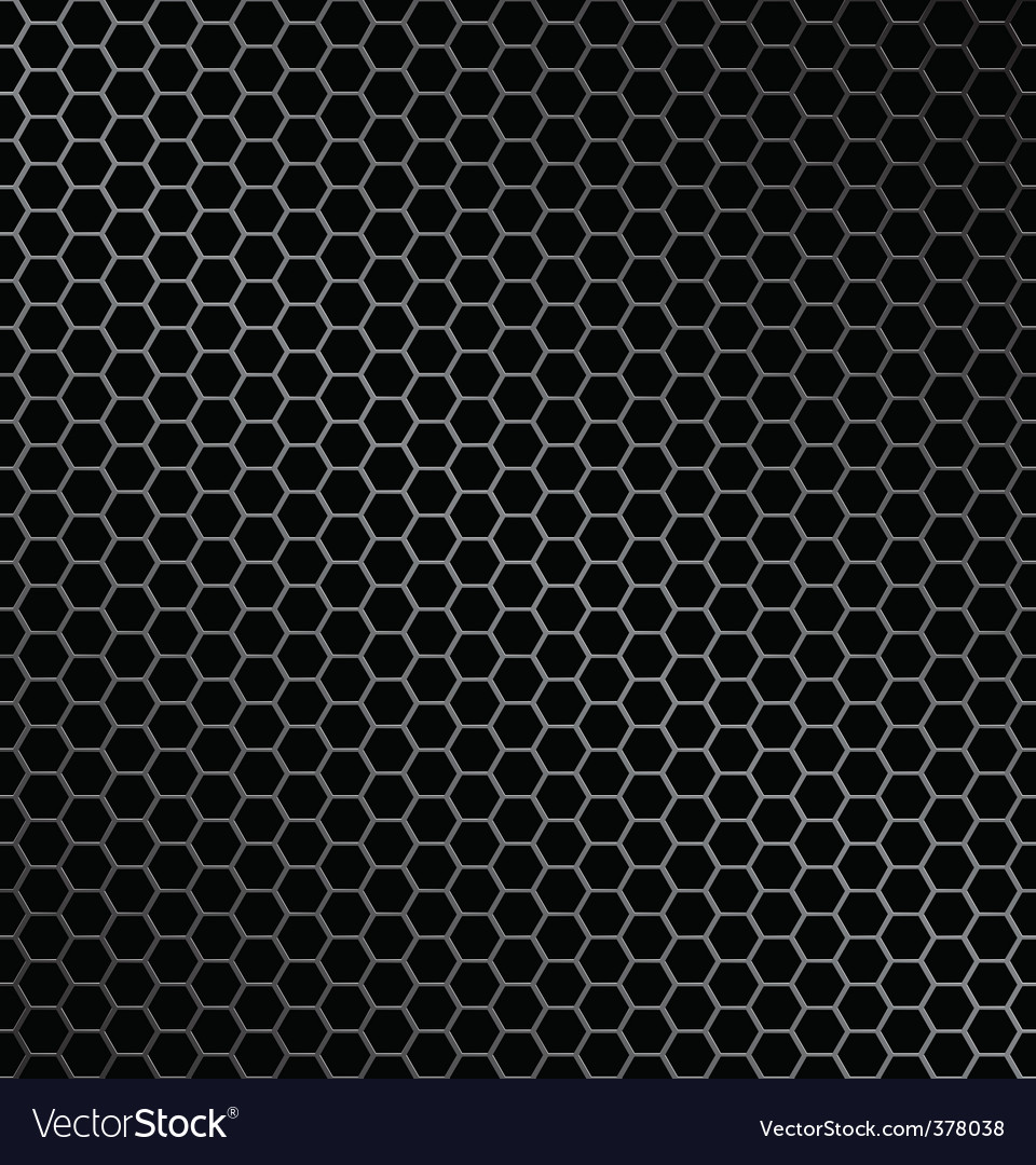 Hexagon metal background vector