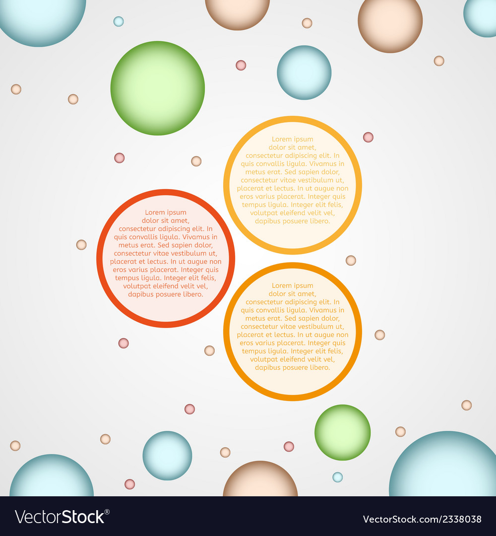 Infographics - three color circle panels vector | Price: 1 Credit (USD $1)