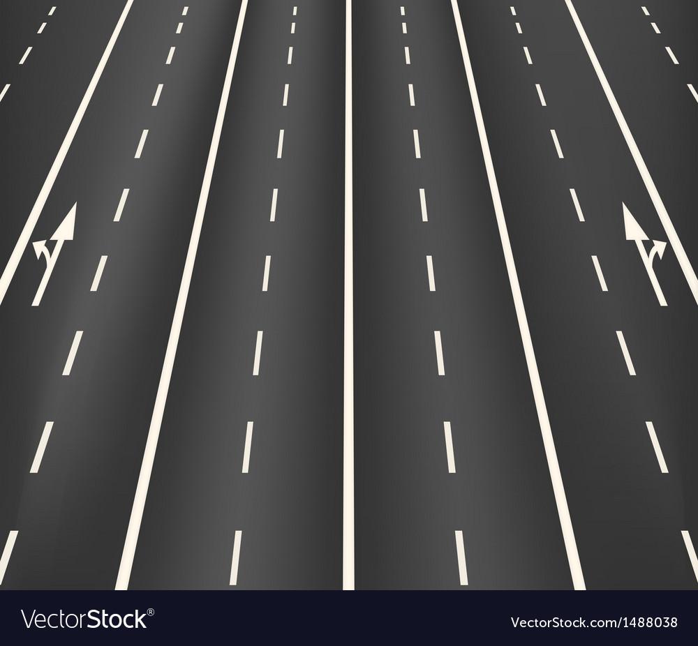 Lane road superhighway vector | Price: 1 Credit (USD $1)