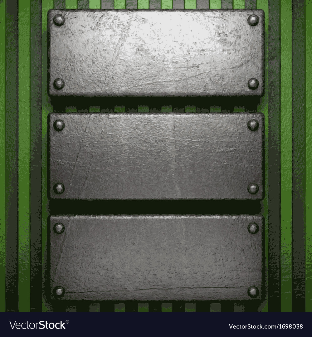 Metal on green background vector | Price: 1 Credit (USD $1)