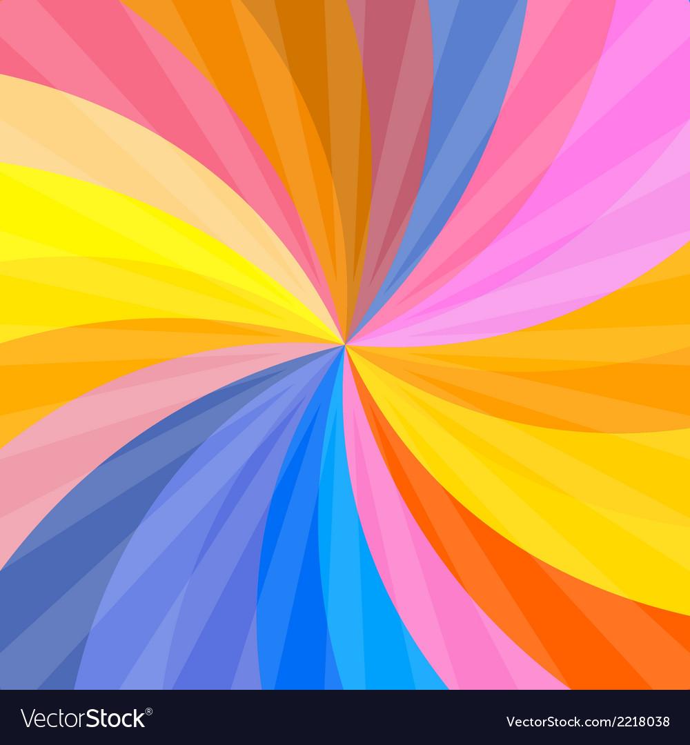 Retro spiral colorful background vector | Price: 1 Credit (USD $1)