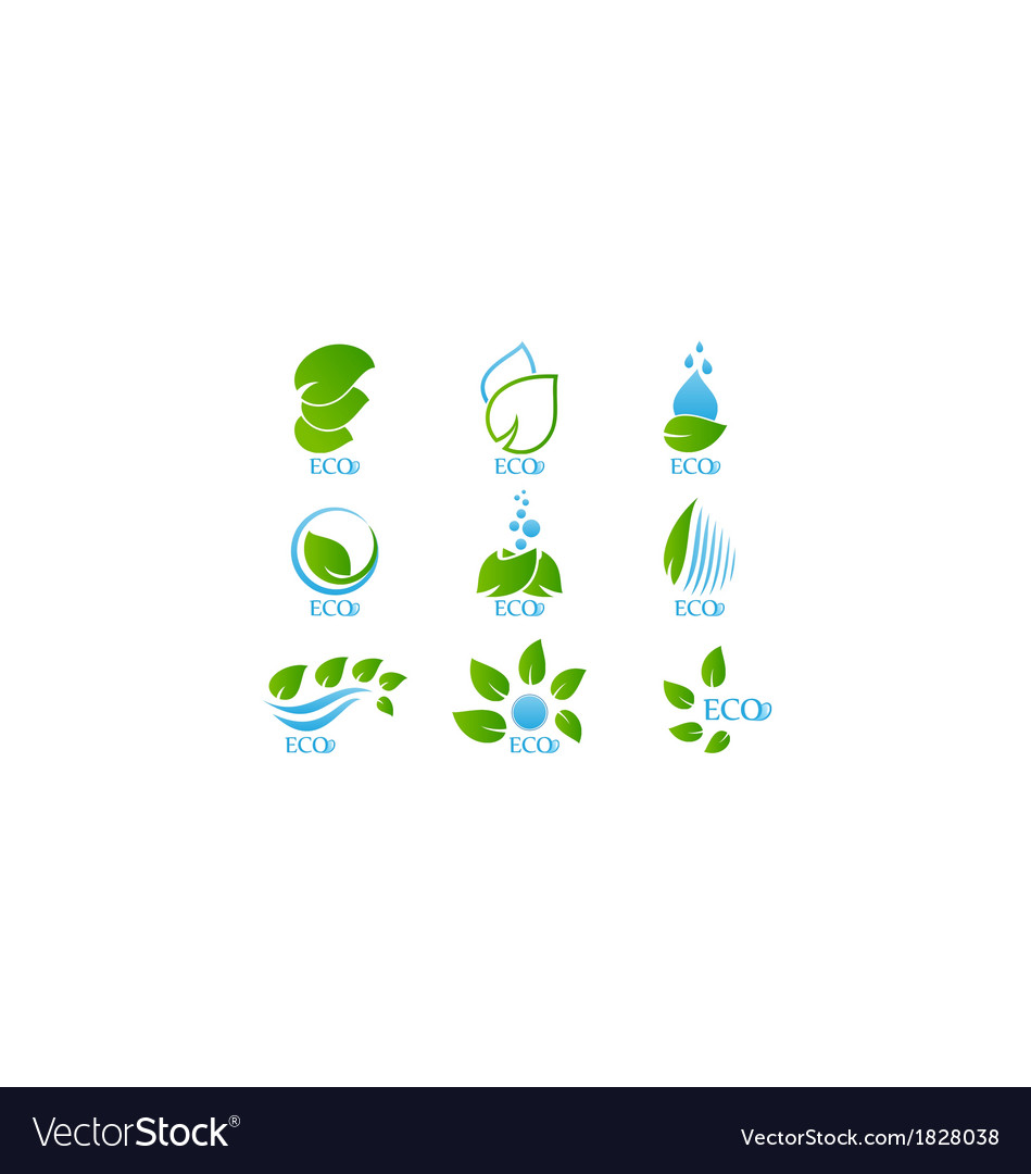 Set of ecology icon vector | Price: 1 Credit (USD $1)