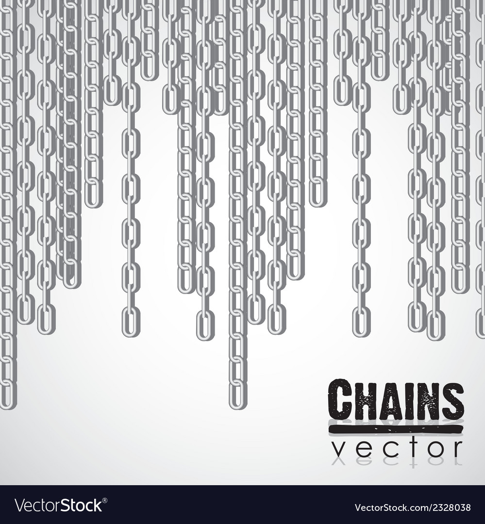 Silver link chain dangling vector | Price: 1 Credit (USD $1)