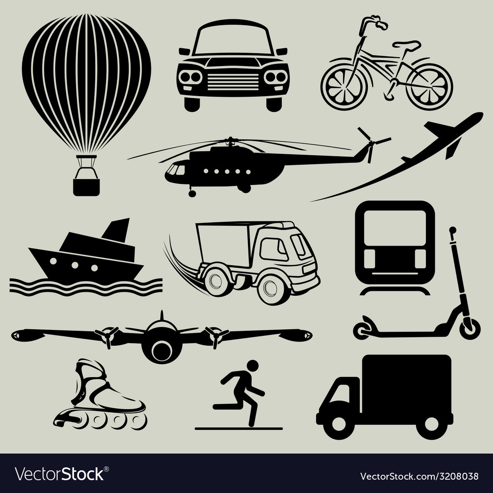 Transport icons3 resize vector | Price: 1 Credit (USD $1)