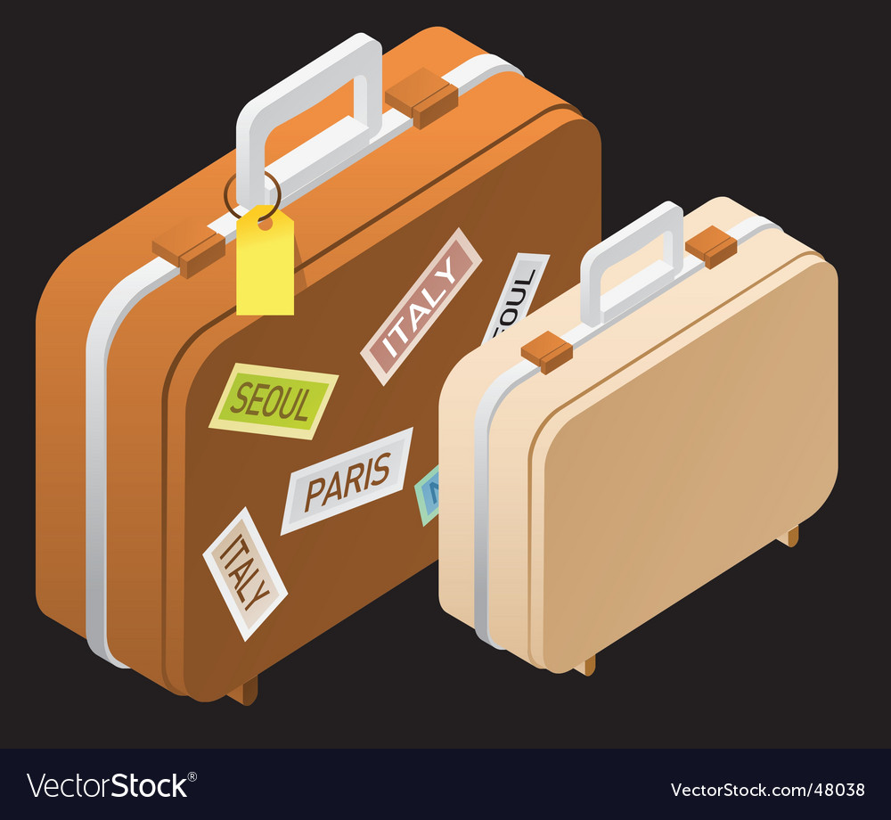 Travel suitcases vector | Price: 1 Credit (USD $1)