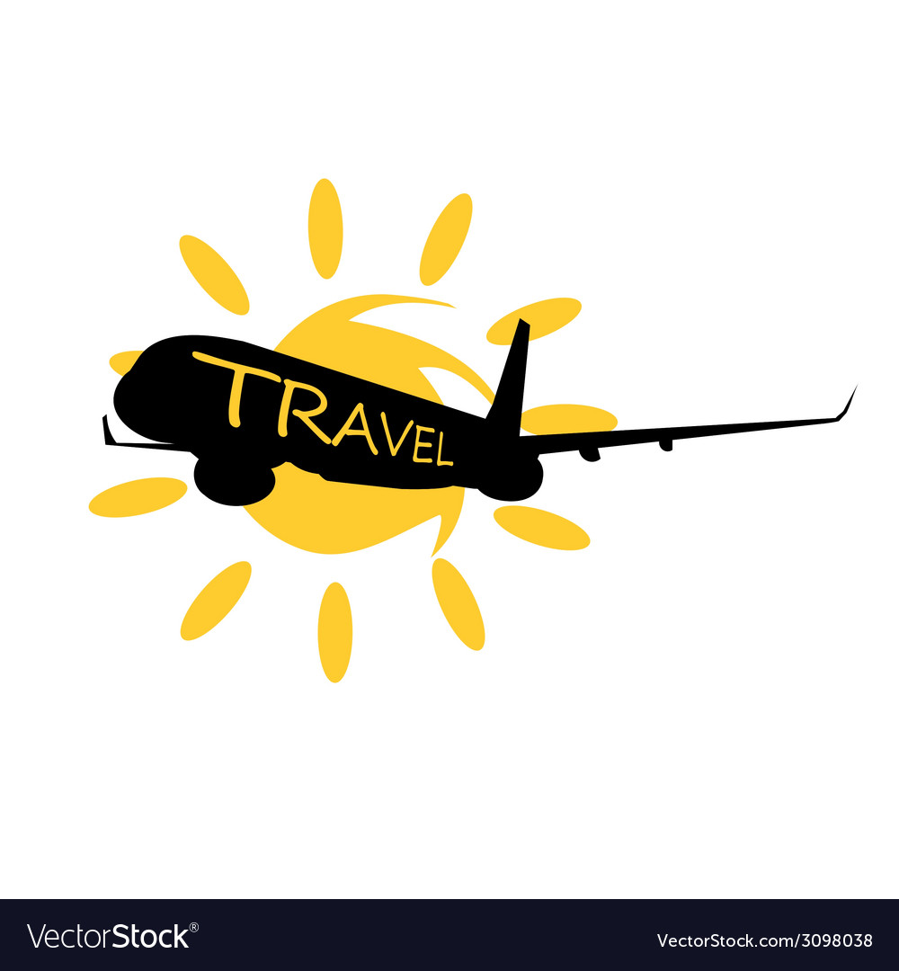 Travel with airplane vector | Price: 1 Credit (USD $1)
