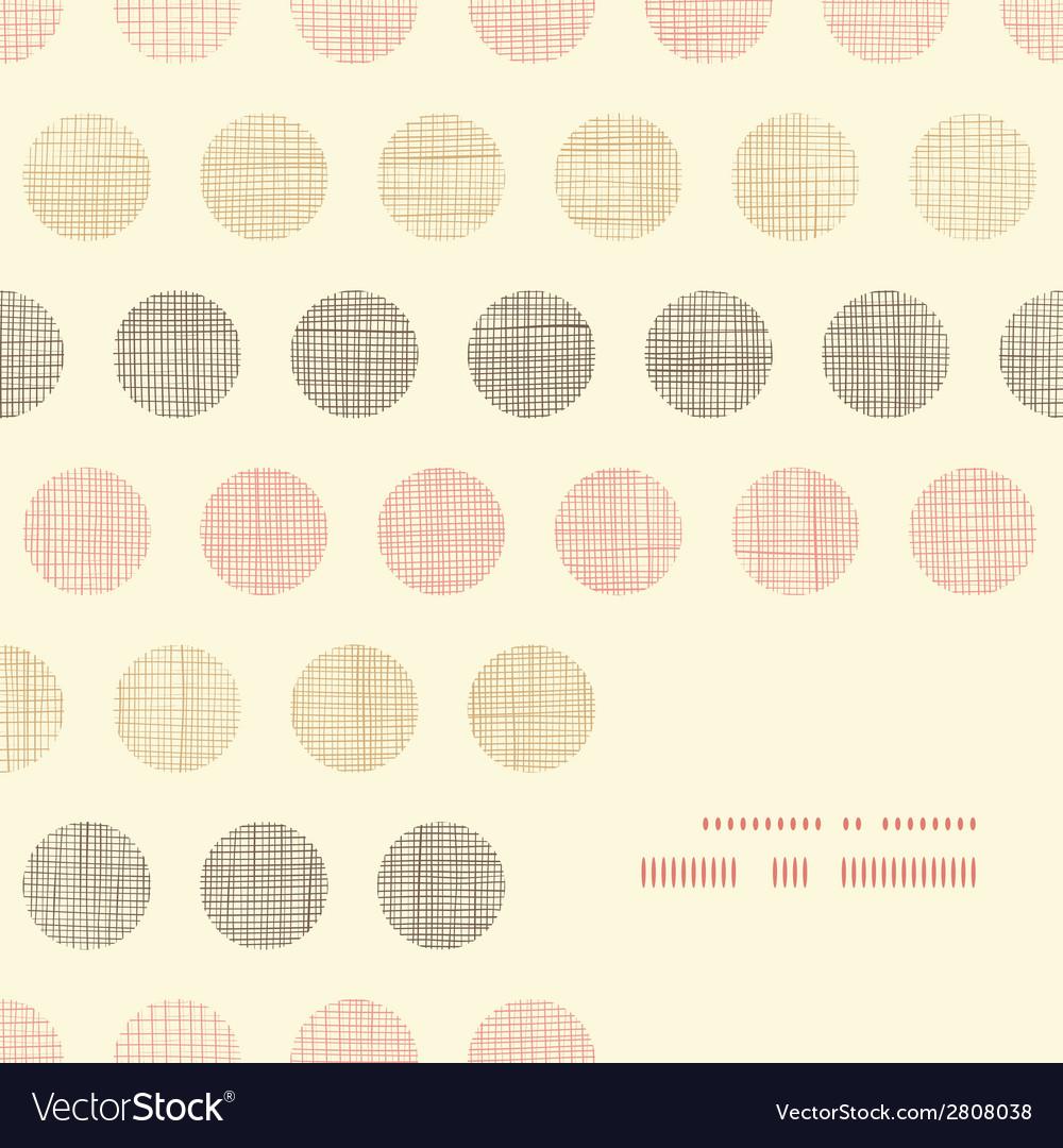 Vintage textile polka dots frame corner pattern vector | Price: 1 Credit (USD $1)