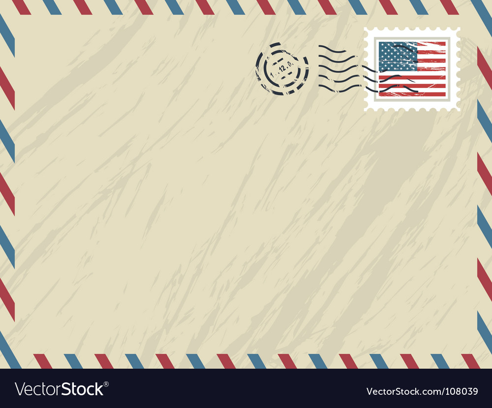 American airmail envelope vector | Price: 1 Credit (USD $1)
