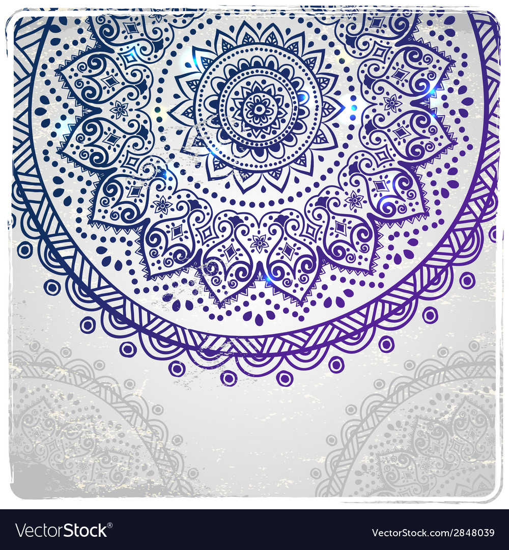 Beautiful indian floral ornament vector   Price: 1 Credit (USD $1)