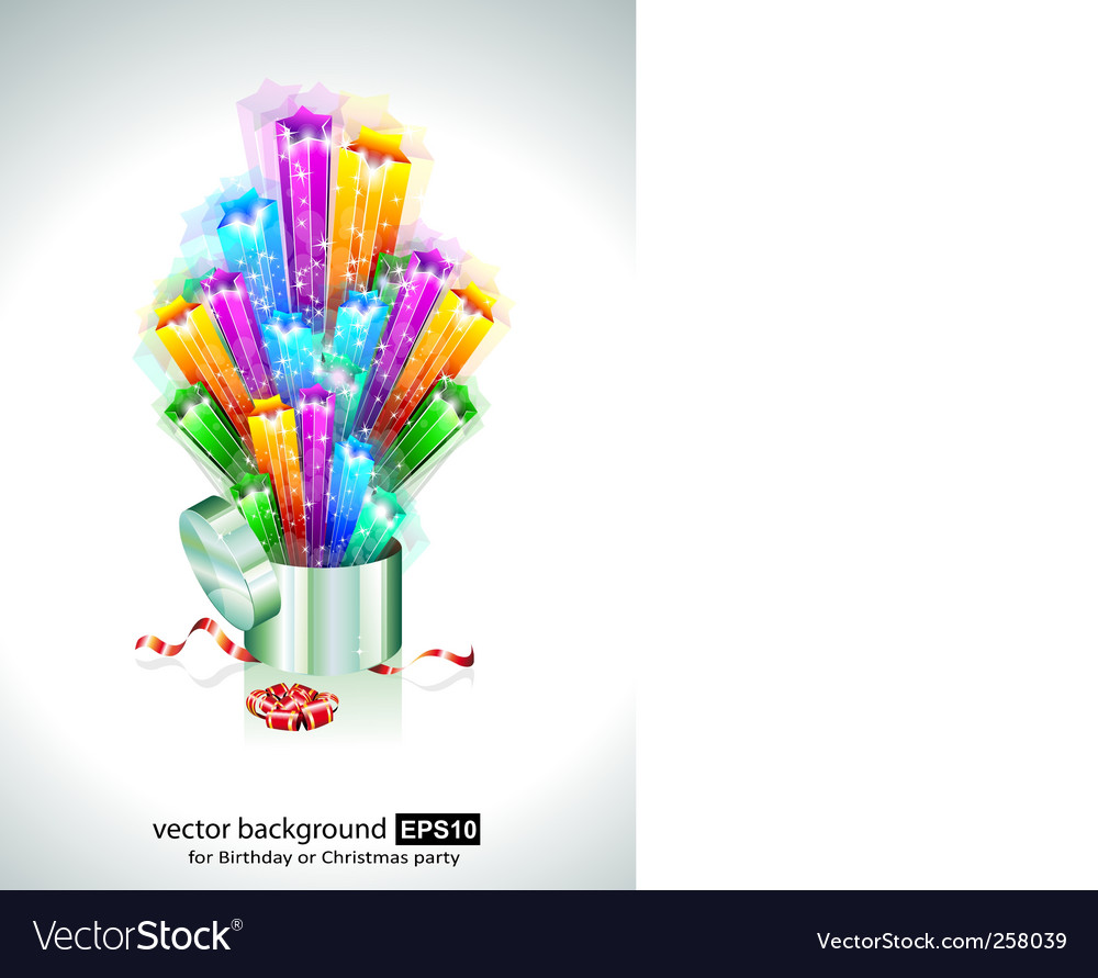 Birthday or christmas gift card vector | Price: 3 Credit (USD $3)