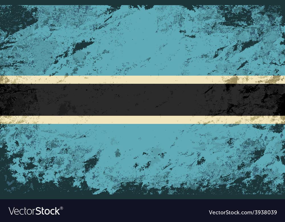 Botswana flag grunge background vector   Price: 1 Credit (USD $1)