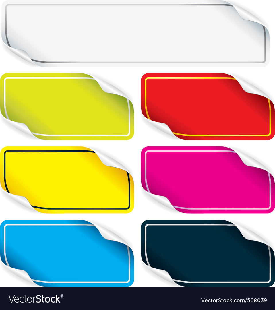 Colored stickers vector   Price: 1 Credit (USD $1)