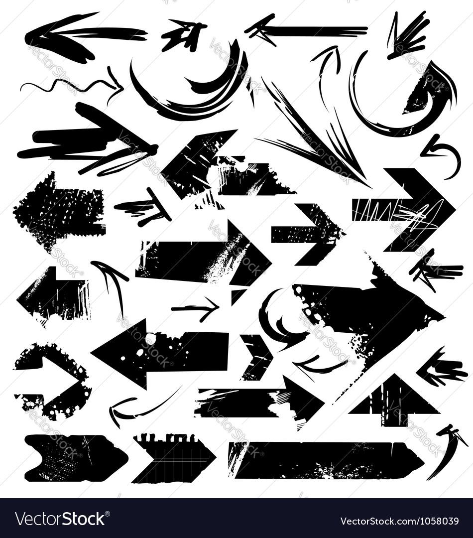 Grunge arrows vector | Price: 1 Credit (USD $1)