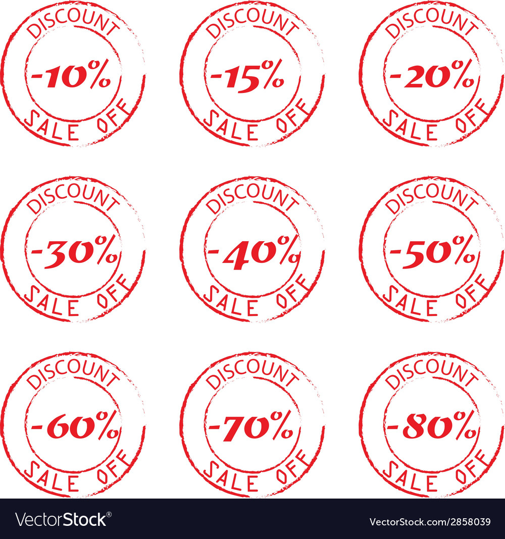 Grunge commercial stamps set vector | Price: 1 Credit (USD $1)
