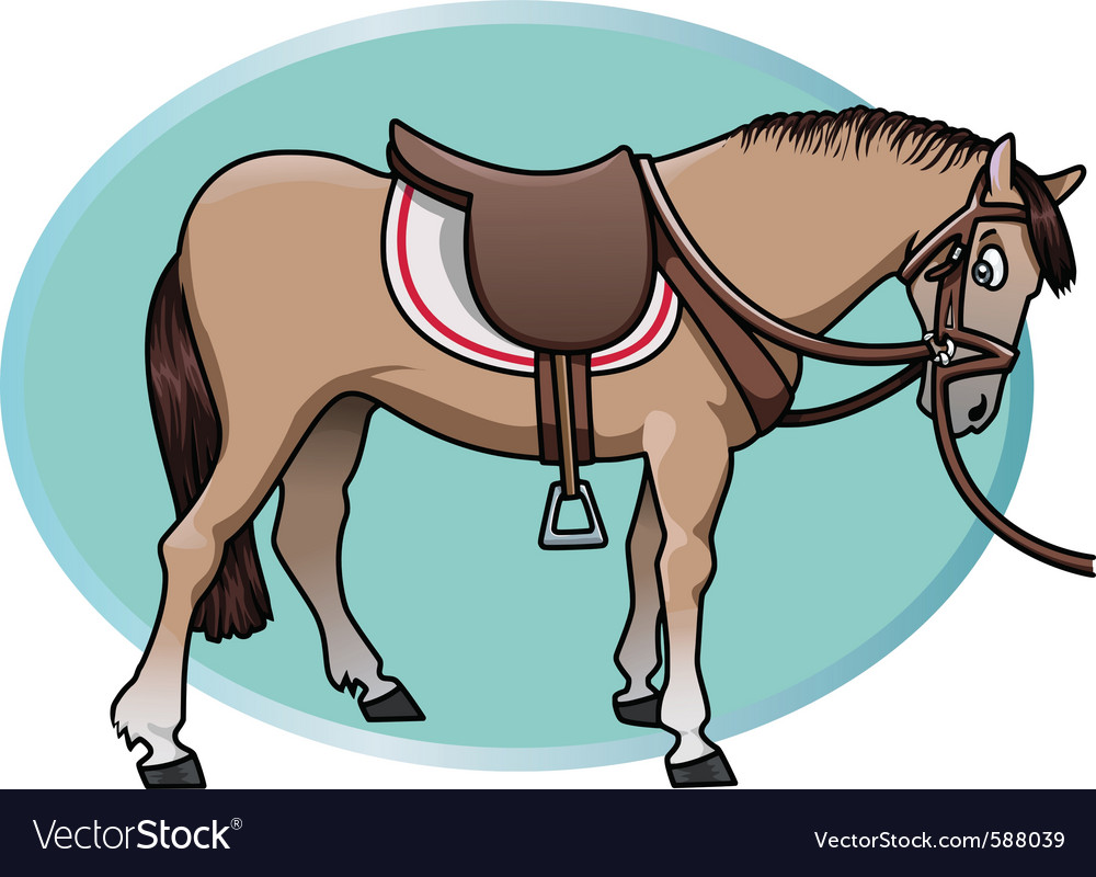 Horse and saddle vector | Price: 3 Credit (USD $3)