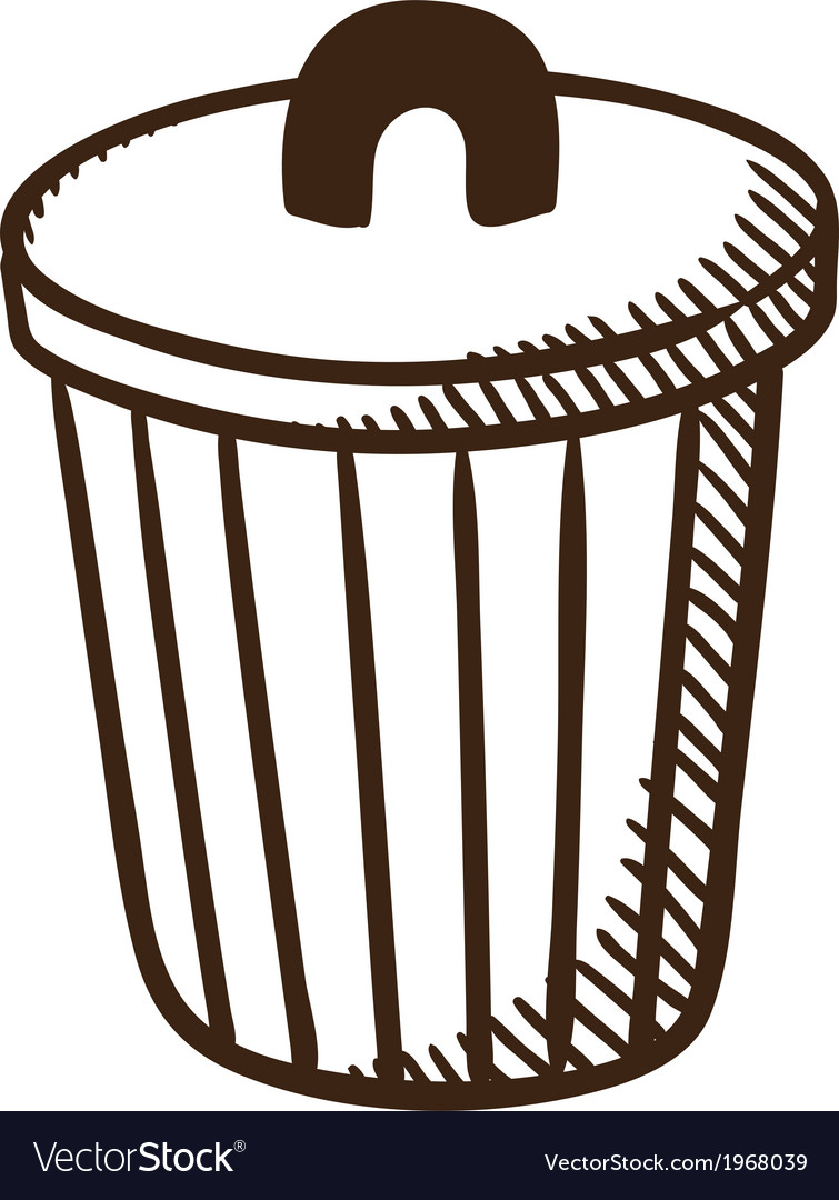 Outdoor trash bin symbol vector | Price: 1 Credit (USD $1)