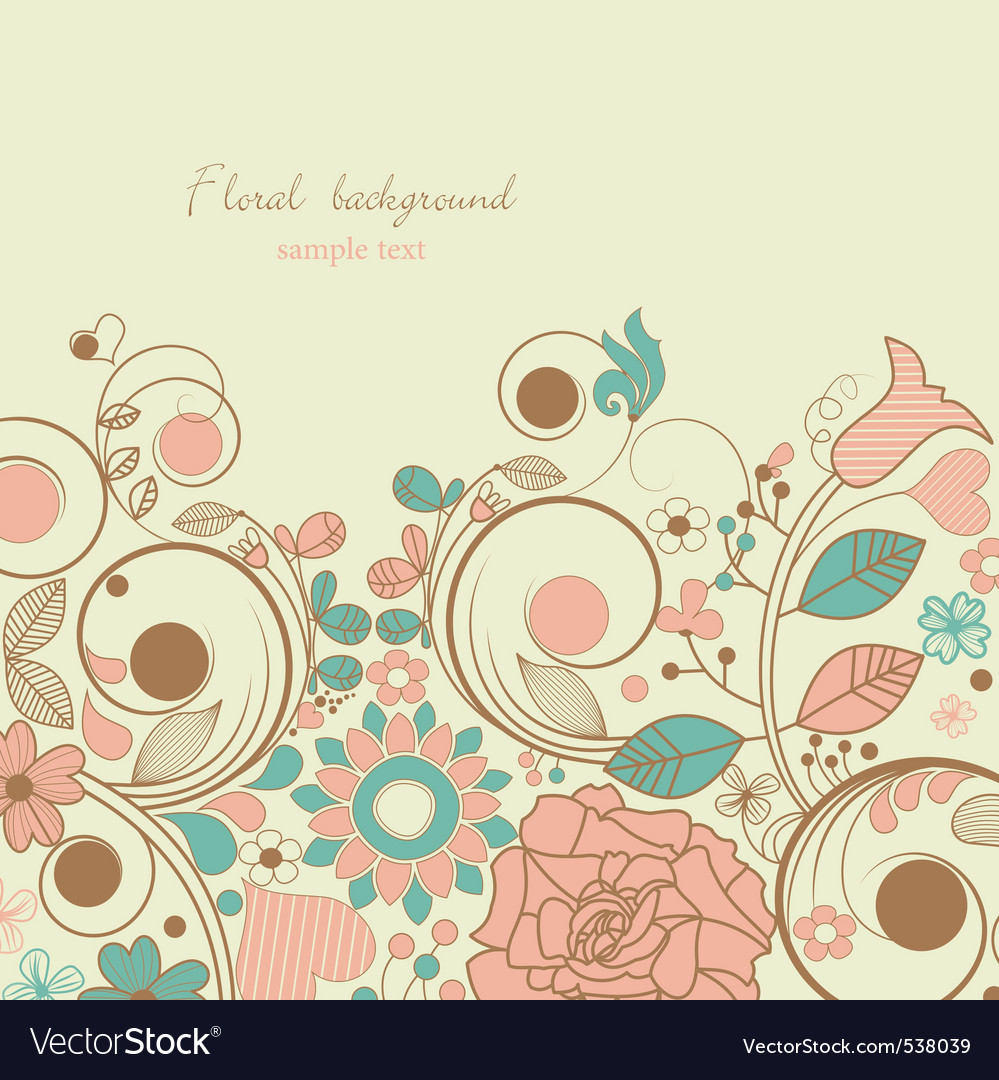 Retro floral vector | Price: 1 Credit (USD $1)