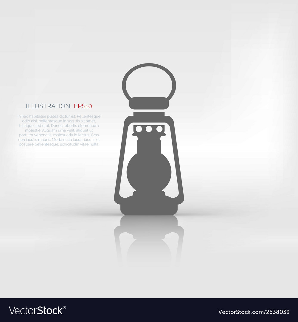 Retro oil lamp icon vector | Price: 1 Credit (USD $1)