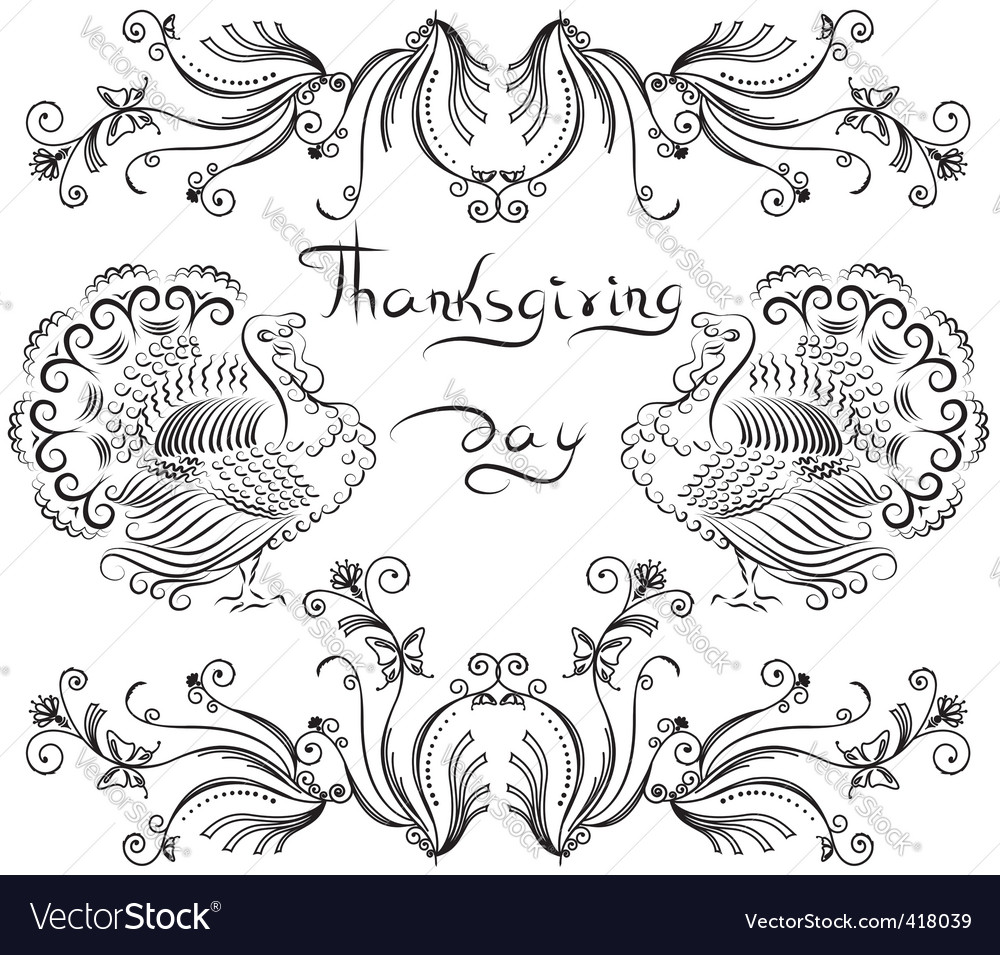 Thanksgiving day card vector | Price: 1 Credit (USD $1)