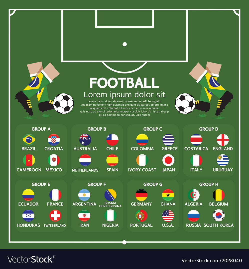 2014 football tournament chart vector | Price: 1 Credit (USD $1)