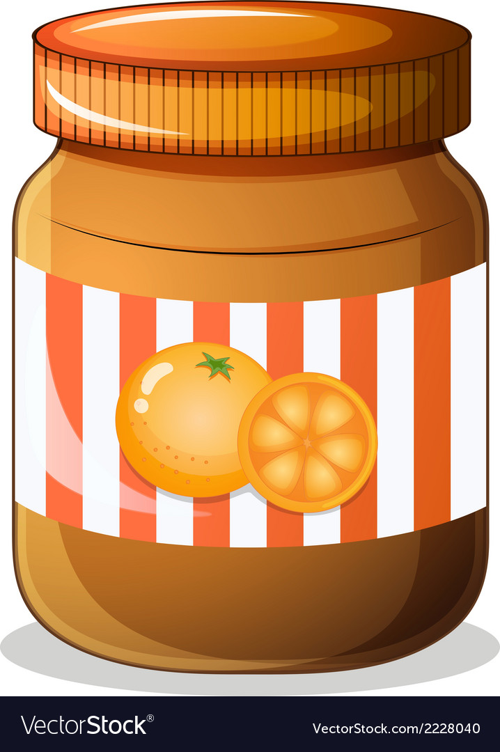 A bottle of orange jam vector | Price: 1 Credit (USD $1)