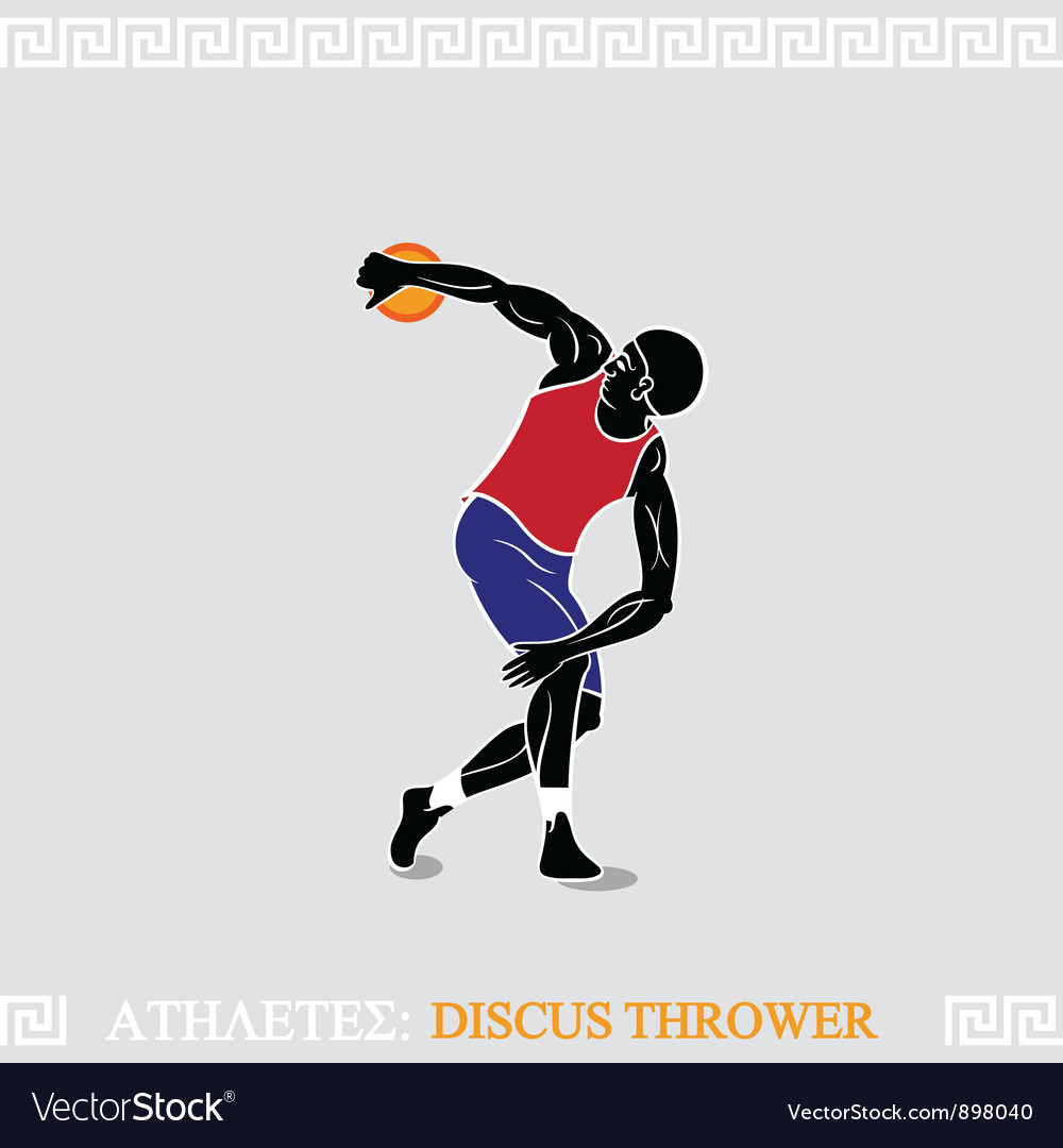 Athlete discus thrower vector | Price: 3 Credit (USD $3)