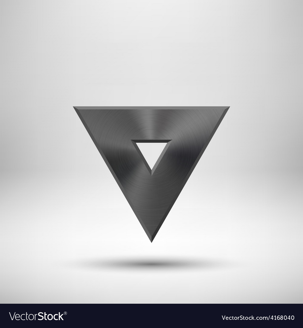 Black abstract triangle button template vector | Price: 1 Credit (USD $1)