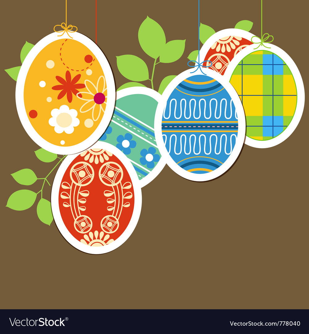 Easter painted eggs vector | Price: 1 Credit (USD $1)
